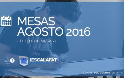 Mesas Finales Agosto 2016