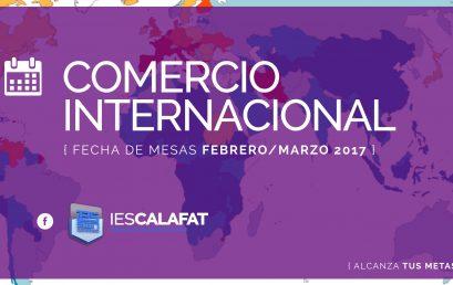Mesas Finales Feb/Marzo17: Comercio Internacional