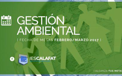 Mesas Finales Feb/Marzo17: Gestión Ambiental