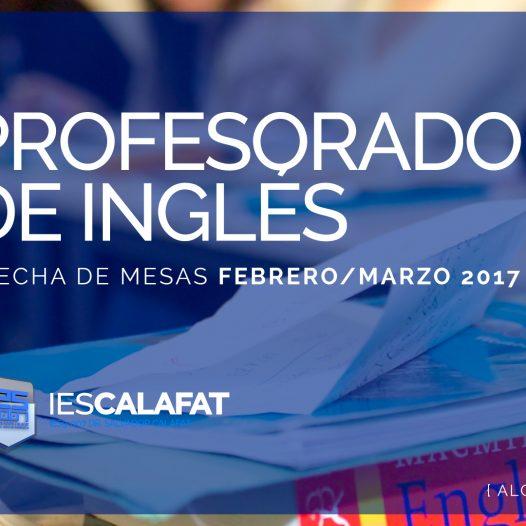 Mesas Finales Feb/Marzo17: P. Inglés