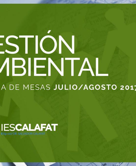 Mesas Finales Jul/Ago17: Gestión Ambiental