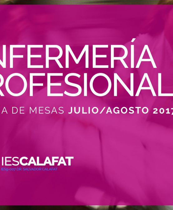 Mesas Finales Jul/Ago17: Enfermería Profesional