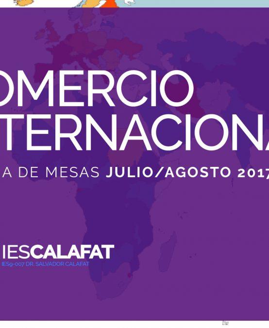Mesas Finales Jul/Ago17: Comercio Internacional y Aduana