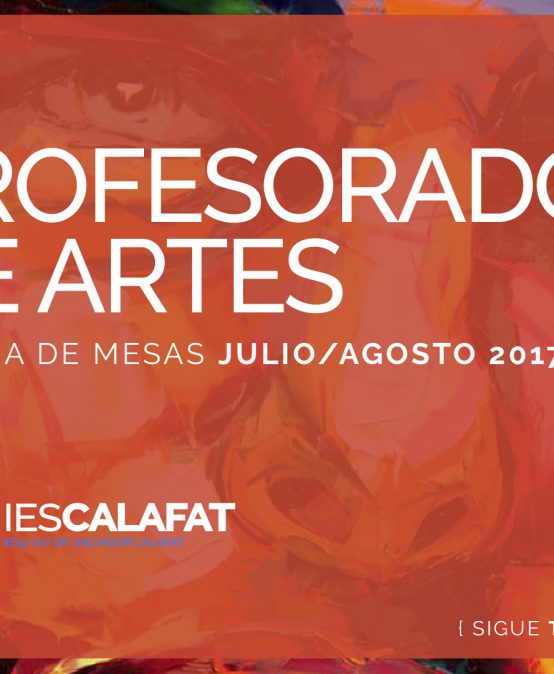 Mesas Finales Jul/Ago17: Artes Visuales