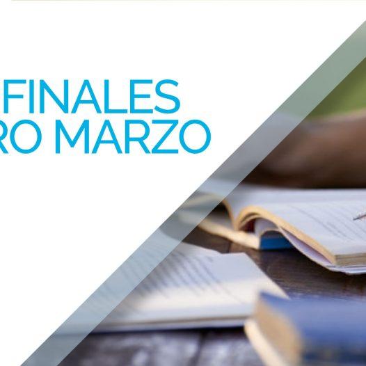 Mesas Finales Febrero Marzo 2018