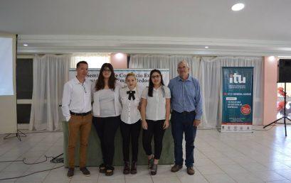 Estudiantes de 3º año de Comercio Internacional y Aduanas participando en el «XIX Seminario en Comercio Exterior» 15/11/18