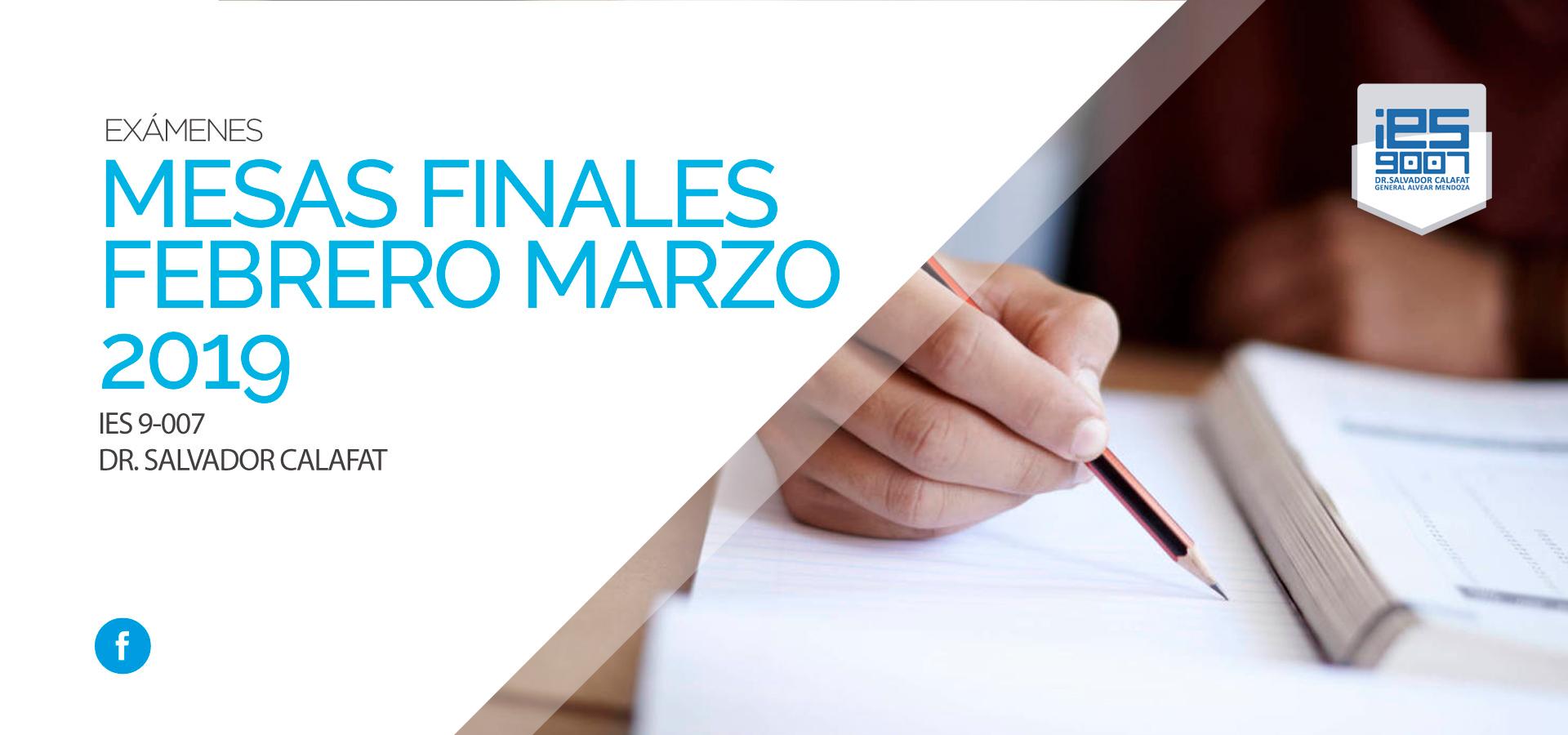 Mesas Finales Febrero Marzo 2019